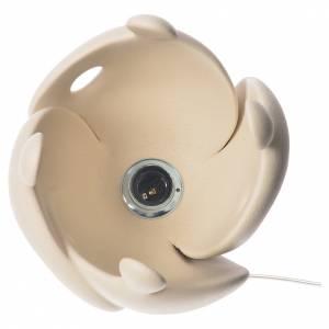 Regalos para Novios: Lámpara de mesa en gres H 28 cm. marfil