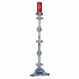 Lampe 108 cm pour Saint-Sacrement en laiton argent s1