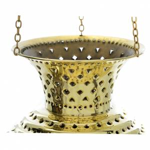 Lampe orientale en laiton Moines Bethléem h 28 cm s6
