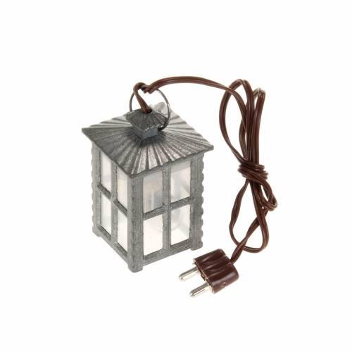 Lampione metallo luce bianca h 4 cm s1