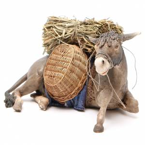 Laying donkey 30cm, Angela Tripi Nativity figurine s2
