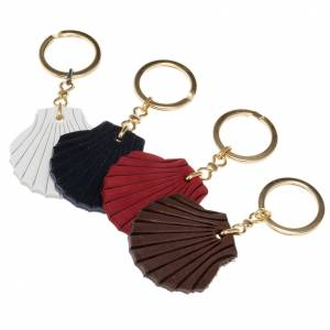 Key Rings: Leather key ring, shell of St. James