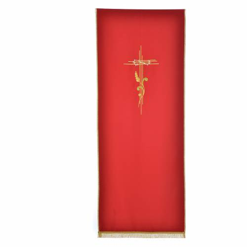 Lectern Cover in polyester, cross and intertwined ears of wheat s4