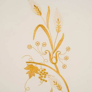 Lectern Cover, lamp, grapes, wheat symbol s5