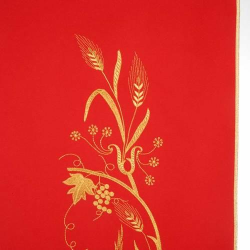 Lectern Cover, lamp, grapes, wheat symbol s9