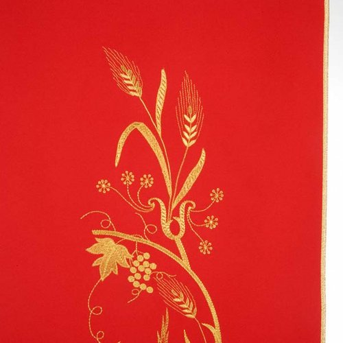 Lectern Cover with lamp, grapes, wheat symbol s9