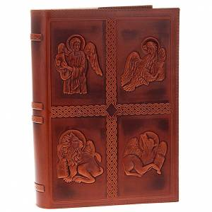 Lectionary covers: Lectionary cover, real leather 4 Evangelists