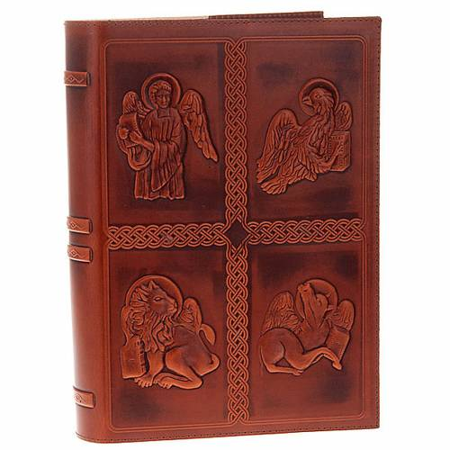 Lectionary cover, real leather 4 Evangelists s1