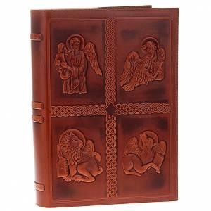 Deckel für Lektionar: Lektionareinband echte Leder 4 Schreibern Evangelium