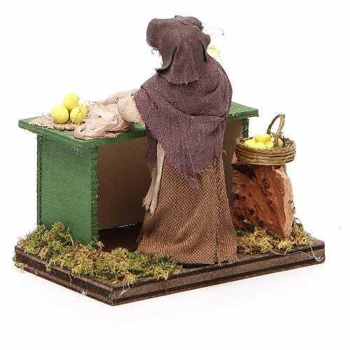 Lemon seller with stall, Neapolitan nativity figurine, 10cm s3