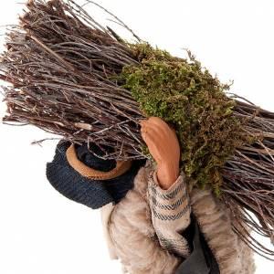 Belén napolitano: Leñador con madera 14 cm