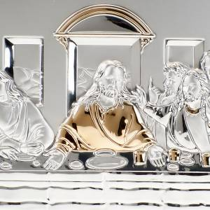 Leonardo's Last Supper bas relief silver on wood s5