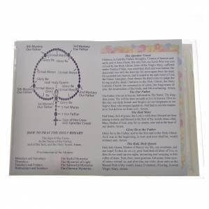 Calendari e altri libri religiosi: Libretto con rosario Il Santo Rosario Inglese Francese