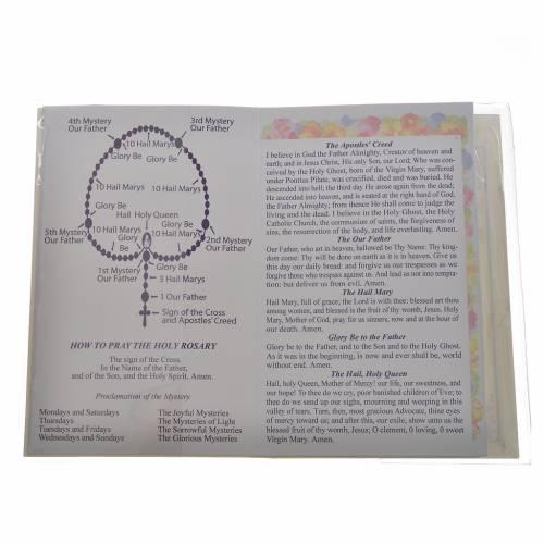 Libretto con rosario Il Santo Rosario Inglese Francese s2