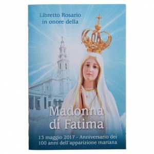 Calendari e altri libri religiosi: Libretto rosario Santuario Madonna Fatima 100. Anniversario