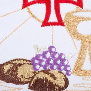 Linge d'autel 4 pièces symboles eucharistie s3