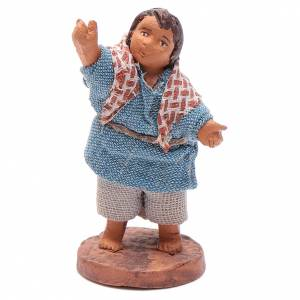 Little boy indicating 10cm neapolitan Nativity s1
