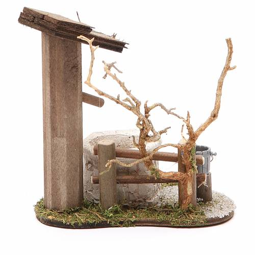 Little Fountain with tree 10x7x11cm s2