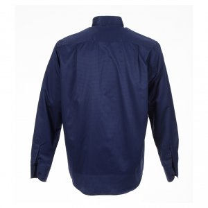 Long sleeve tab collar shirt, blue jacquard s2