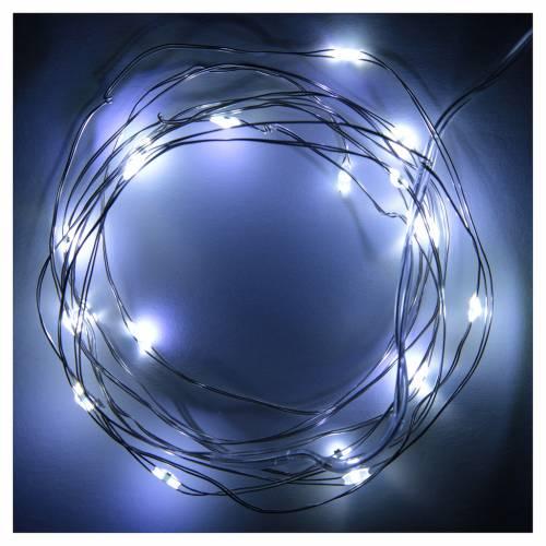 Luce di Natale filo nudo 20 led bianco freddo interno corrente s2
