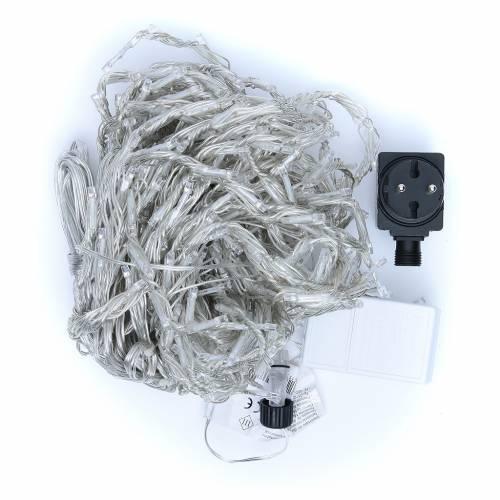 Luce natalizia tenda ICE 400 led bianco freddo ESTERNO s4
