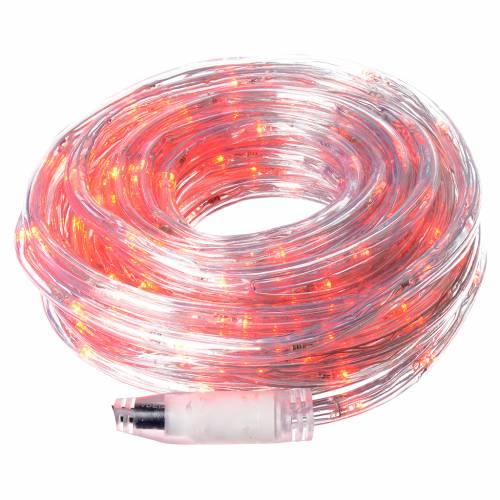Luce natalizia tubo led rosso programmabile 10 mt esterno s1