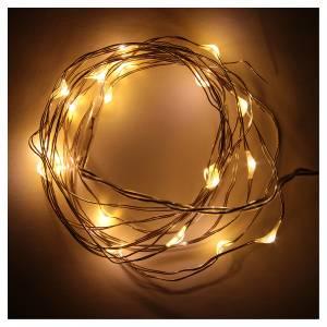 Luces de Navidad 20 LED tipo gota color blanco cálido con baterías s2