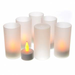 Velas votivas: Luces LED tealights recargables 6 piezas
