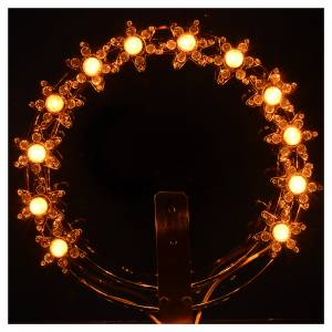Crowns and halos for religious statues: Luminous halo with lights and rhinestones