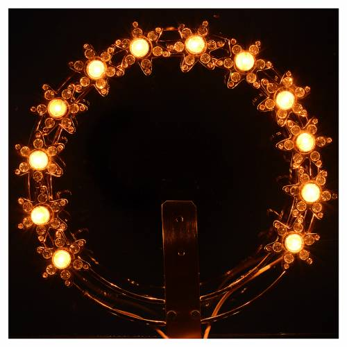 Luminous halo with lights and rhinestones s2