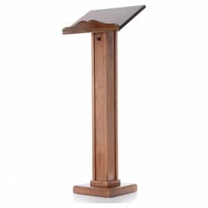 Lutrins sur pied: Lutrin à colonne bois hauteur réglable 120x45x34 cm