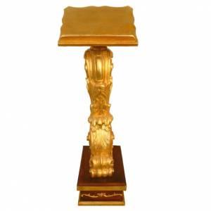 Lutrins sur pied: Lutrin à colonne hauteur réglable feuille d'or 135x50x38 cm