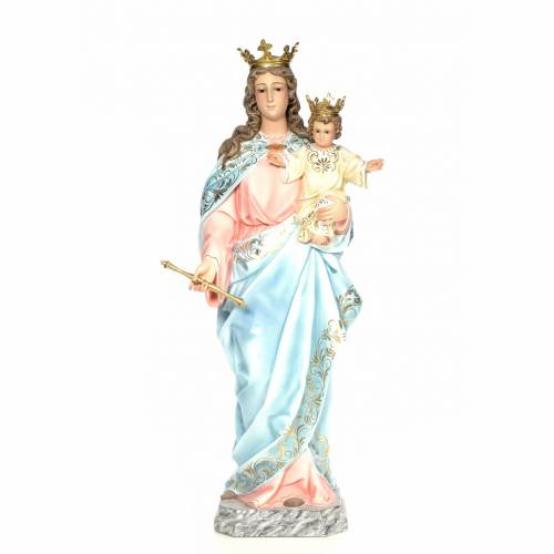 Madonna Ausiliatrice 120 cm pasta di legno dec. elegante s1