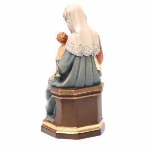 Statue in legno dipinto: Madonna con bambino e uva legno colorato Valgardena