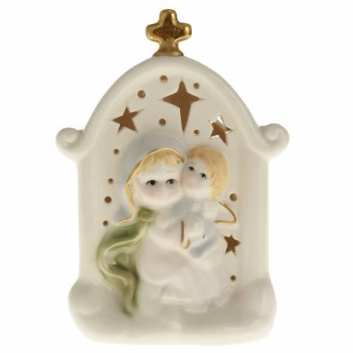 Madonna con bimbo quadretto ceramica s1