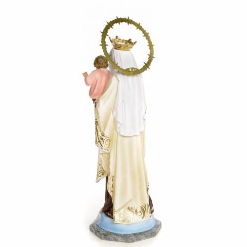 Madonna del Carmelo 50 cm pasta di legno dec. elegante s3