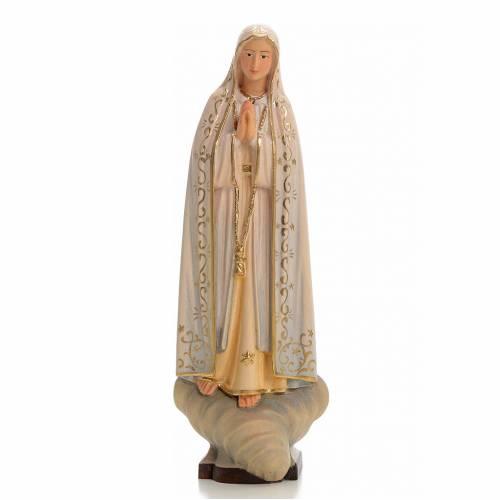 Madonna di Fatima legno dipinto Valgardena s1