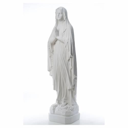 Madonna di Lourdes, statua in polvere di marmo 31-130 cm s2