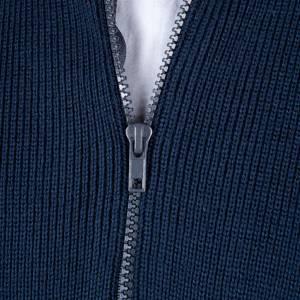 Giubbini e pile: Giubbino collo alto a lupetto blu