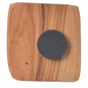 Crosses and magnets: Magnet in Medjugorje olive wood 5x4cm