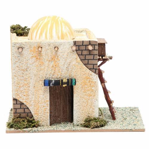 Maison arabe avec échelle 22x13x17 cm s1