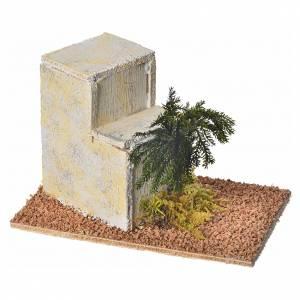 Maison arabe en bois pour crèche 8x14x9 cm s4