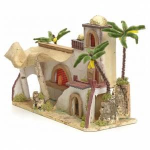 Maison arabe en miniature stucquée avec tente 30x43x18 s2