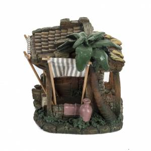 Maisons, milieux, ateliers, puits: Maison avec tente crèche Noel Fontanini 6,5 cm