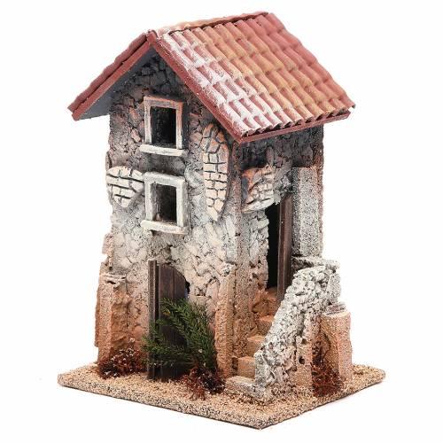 Maison en liège 21x15x12 cm crèche s2