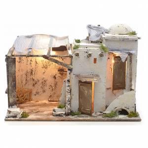 Maison Palestinienne illuminée crèche Napolitaine 10 cm s1