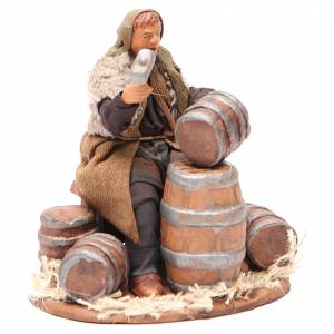 Man repairing Barrels 12cm neapolitan Nativity s3