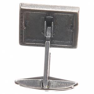 Manschettenknöpfe: Manschettenknöpfe Silber 800 mit Kreuz 1,6x1,6cm weiss