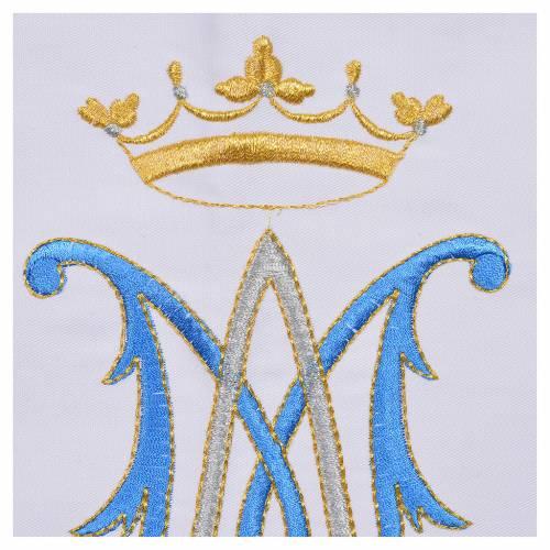 Mantel de altar símbolo mariano 45% algodón, 55% poliéster s6