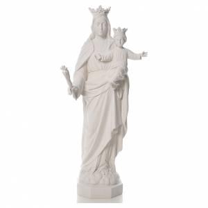 Statue in polvere di marmo di Carrara: Maria Ausiliatrice cm 100 polvere di marmo bianco